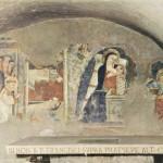 Fresque au fond de la grotte du Greccio