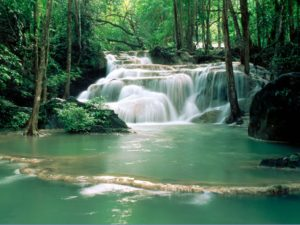 fête de la création - beau paysage d'eau qui coule