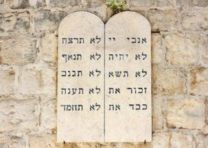 les dix commandements - tables de la loi