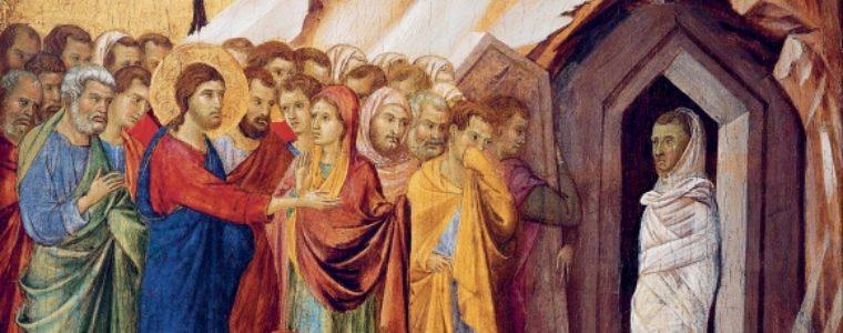 Peinture de la résurrection de Lazare