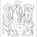 Icone Roublev a colorier