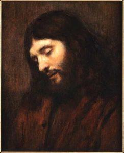 Visage Jésus compassion - Rembrandt